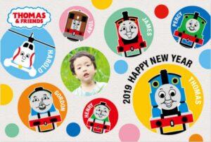 機関車トーマス亥の年賀状2019