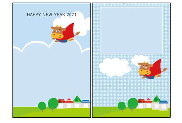 年賀状わんパグの年賀状デザイン